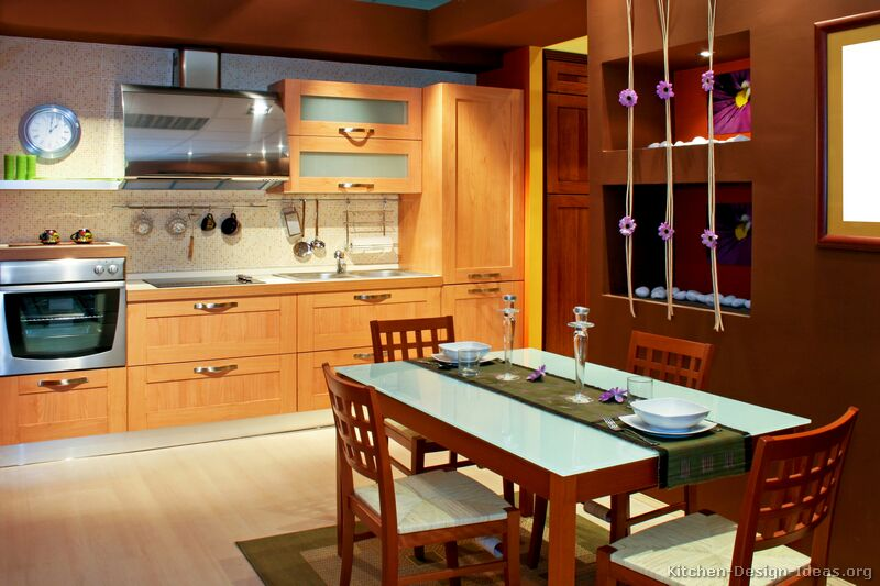 modern light wood kitchen cabinets - Modern Wood Kitchen Cabinets