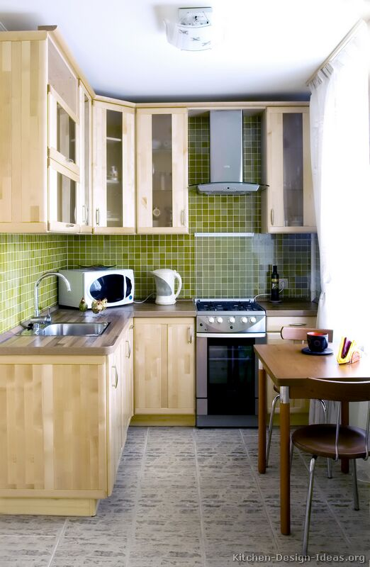 Pictures of kitchens modern light wood kitchen Very small space kitchen design