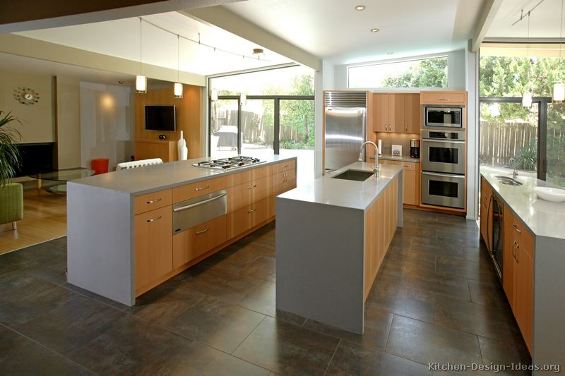of Kitchens  Modern  Light Wood Kitchen Cabinets (Kitchen #9