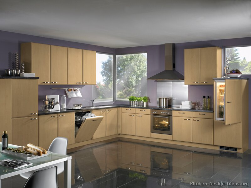 Modern Light Wood Kitchen Cabinets Pictures Design Ideas - Light colors for kitchen walls