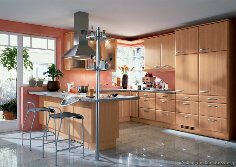 ... Modern Light Wood Kitchen