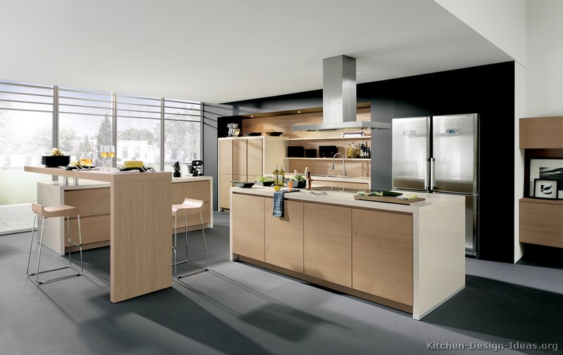 modern light wood kitchen cabinets - pictures & design ideas