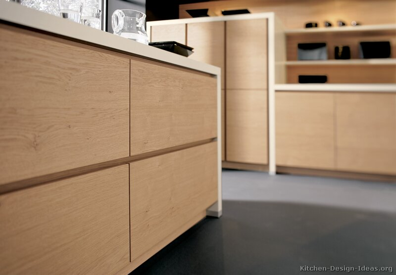 of Kitchens  Modern  Light Wood Kitchen Cabinets (Kitchen #29