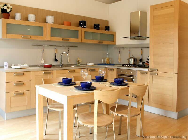 Pictures of kitchens modern light wood kitchen for Light colored kitchen cabinets