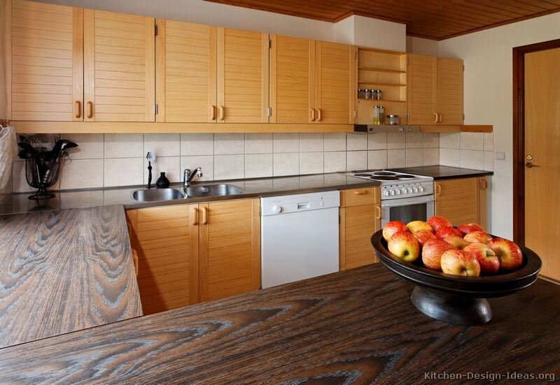Modern Tile Kitchen Countertops Best Pictures Of Kitchens  Modern  Light Wood Kitchen Cabinets Page 2 Inspiration
