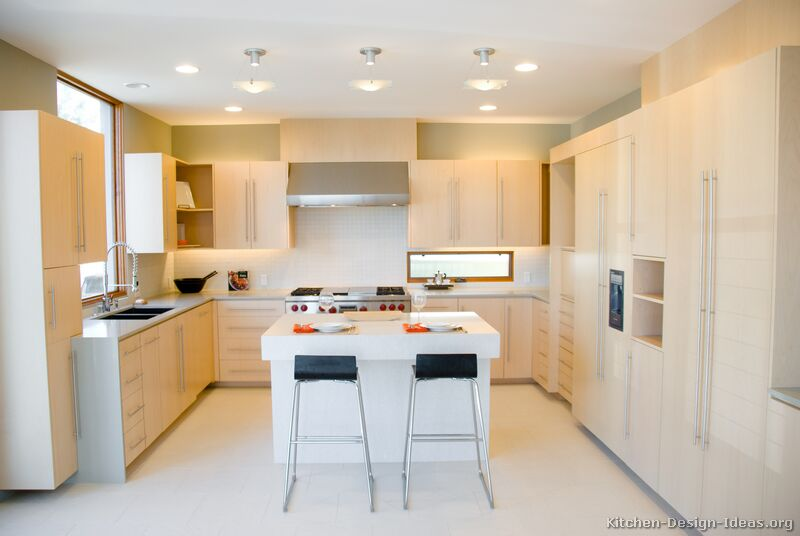 of Kitchens Modern Light Wood Kitchen Cabinets Page 2