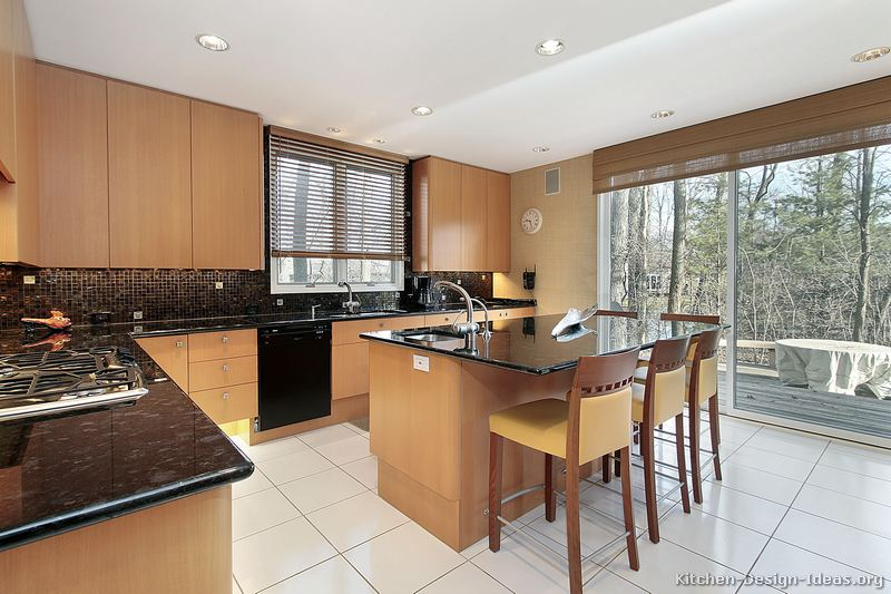 64 modern light wood kitchen - Modern Wood Kitchen Cabinets