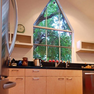 Vaulted Ceilings, Peak Window - Designer Kitchens LA