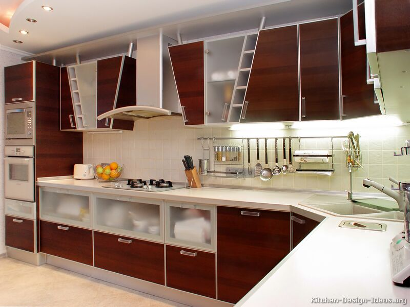 Pictures of kitchens modern medium wood kitchen cabinets kitchen 1 - Cuisine et decoration ...