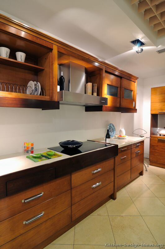 02 more pictures modern medium wood kitchen - Modern Wood Kitchen Cabinets