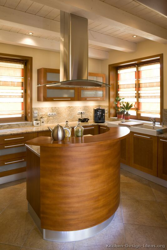 Kitchen Design Ideas Org ~ Pictures of kitchens modern medium wood kitchen cabinets