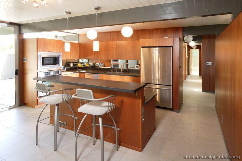 Pictures of kitchens modern medium wood kitchen cabinets - Medium sized kitchen design ideas ...