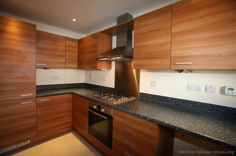 Pictures of kitchens modern medium wood kitchen cabinets for Modern wood kitchen cabinets