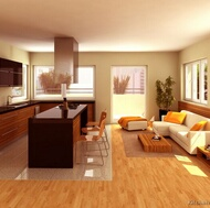 Modern Medium Wood Kitchen