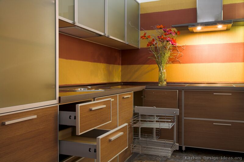 Orange Painted Kitchens orange and yellow kitchen