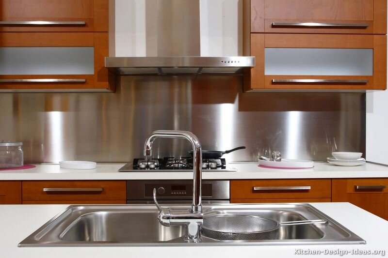 stainless steel backsplash - Kitchen Metal Backsplash
