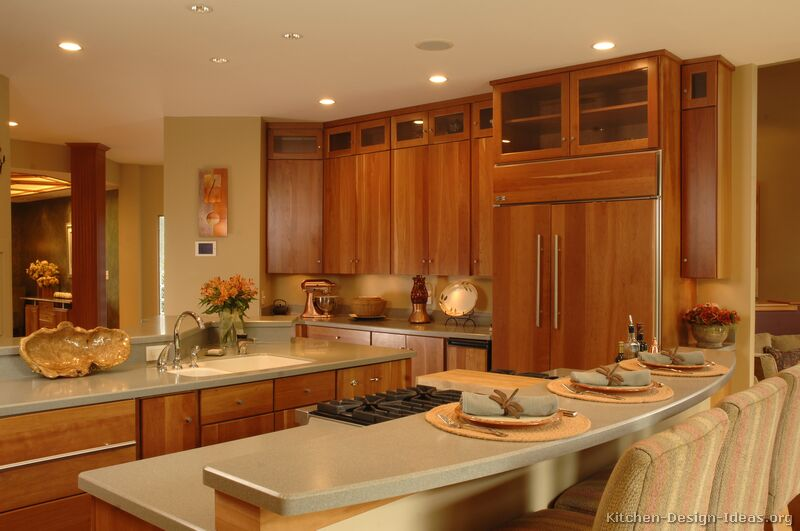 Pictures of kitchens modern medium wood kitchen cabinets for Kitchen ideas for medium kitchens