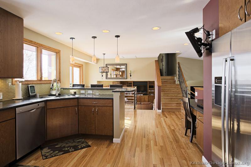 Pictures Of Kitchens Modern Medium Wood Kitchen Cabinets Kitchen 46