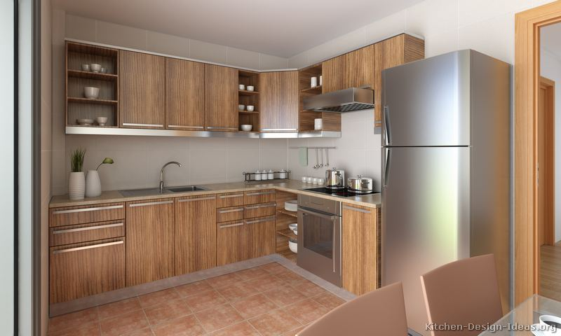 Pictures of kitchens modern medium wood kitchen cabinets page 2 Wood kitchen design gallery