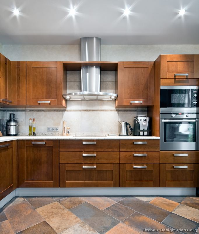 Modern Wood Kitchen Cabinets ~ Pictures of kitchens modern medium wood kitchen