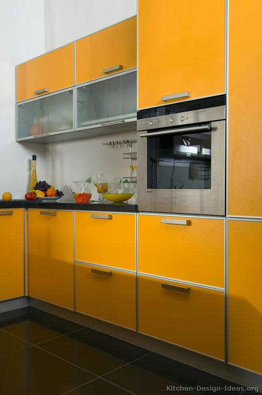 Pictures of Kitchens  Modern  Orange Kitchens (Kitchen #1)