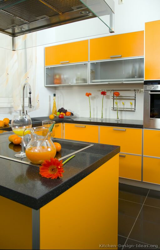 Pictures of Modern Orange Kitchens  Design Gallery