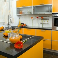 Modern Orange Kitchens