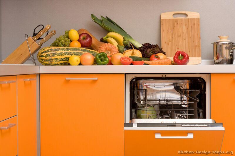 Pictures Of Kitchens Modern Orange Kitchens Kitchen 2