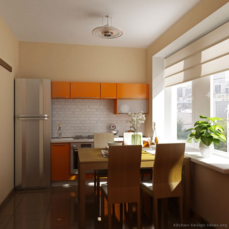 Pictures of Kitchens  Modern  Orange Kitchens (Kitchen #6)
