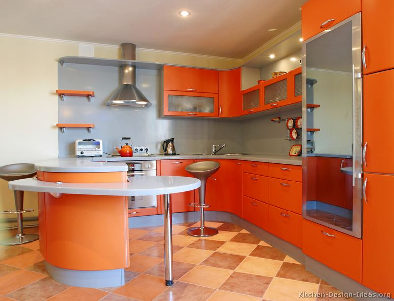 02, Modern Orange Kitchen