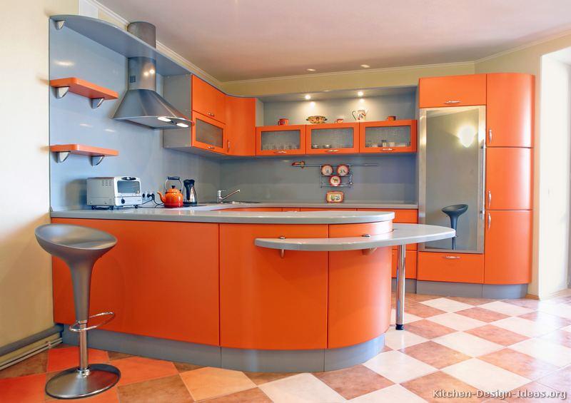 Pictures of Kitchens  Modern  Orange Kitchens (Kitchen #7)