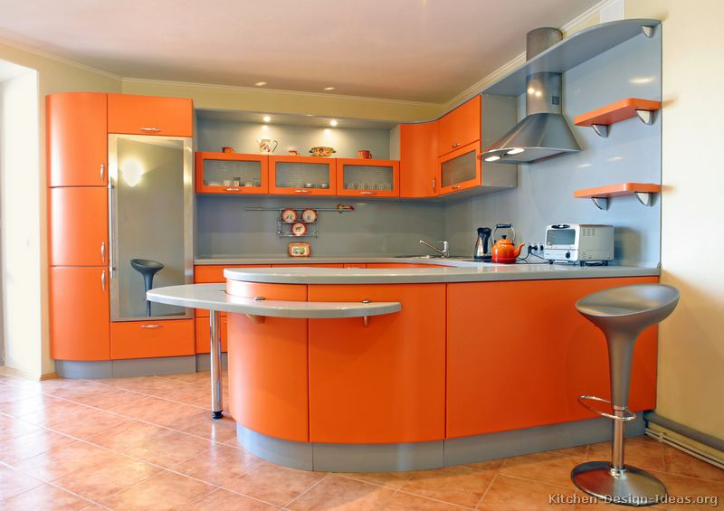 Orange kitchen ideas easy home decorating ideas - Modern kitchen cabinets orange county ...