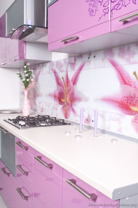 Pictures of Kitchens  Modern  Pink Kitchen Cabinets (Kitchen #1)