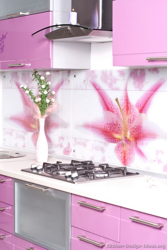 Pictures Of Kitchens Modern Pink Kitchen Cabinets Kitchen 1