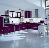 Modern Purple Kitchens