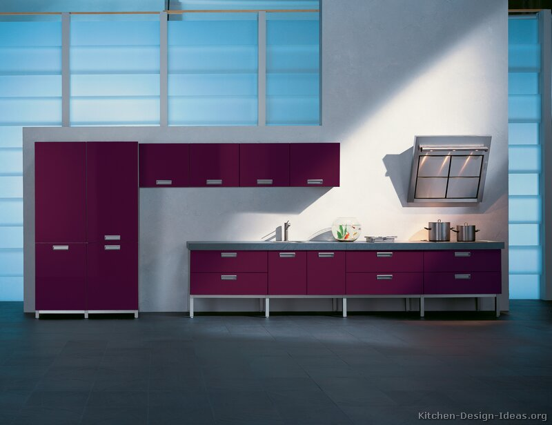 01, Modern Purple Kitchen