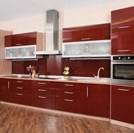 Modern Red Kitchens
