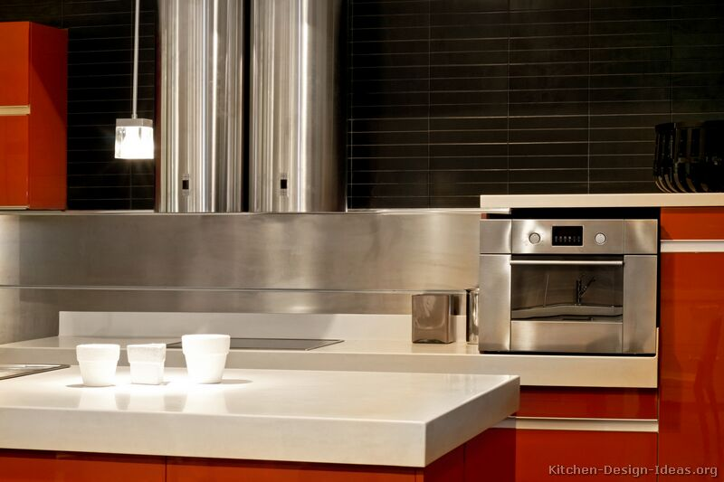 Pictures of Kitchens  Modern  Red Kitchen Cabinets (Kitchen #5)