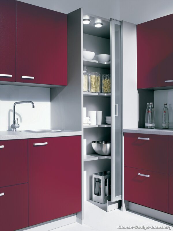Corner Pantry Kitchen Cabinets Design