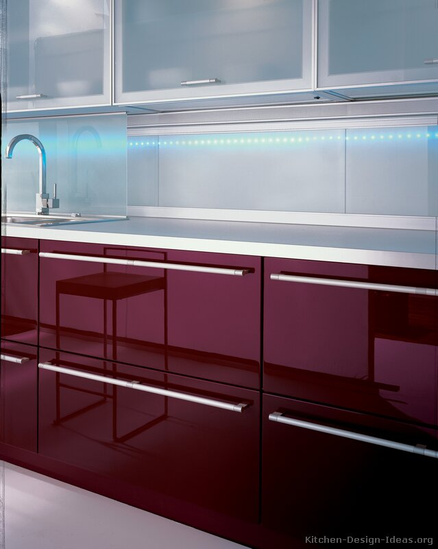 Pictures of kitchens modern red kitchen cabinets for Modern kitchen design aluminium