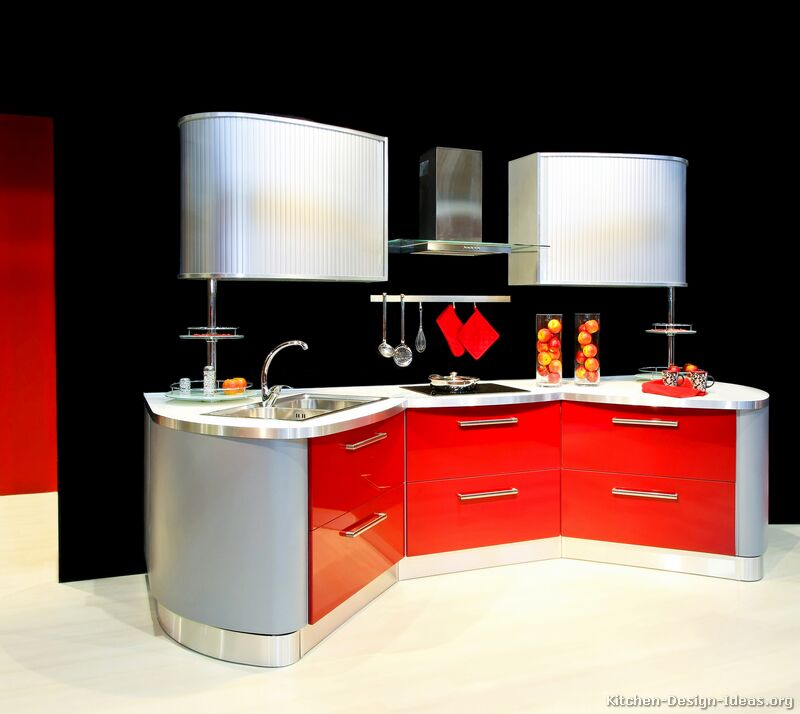 Contemporary Red Kitchen