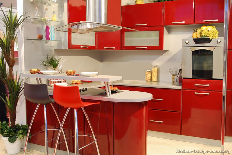 25 more pictures modern red kitchen - Red Kitchen Ideas