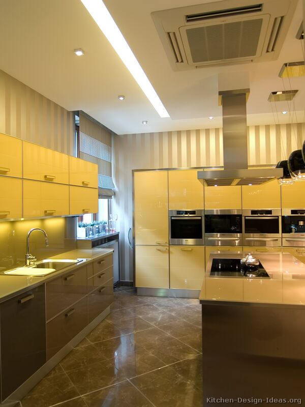 14, Modern Yellow Kitchen
