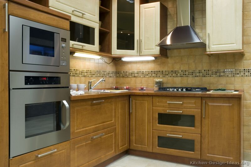 Pictures Of Kitchens Modern Two Tone Kitchen Cabinets Kitchen 5