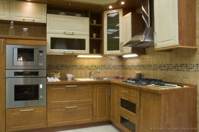 Pictures of kitchens modern two tone kitchen cabinets - Modern kitchen ideas with brown kitchen cabinets ...