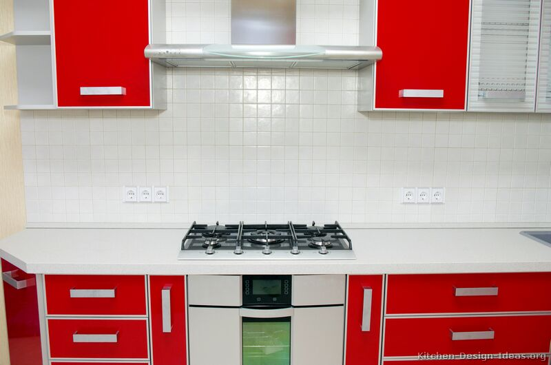 Red And White Kitchen Cabinets Ideas Red And White Two Tone Kitchen. Kitchen Cabinets Red And White  About These Modern Red And White