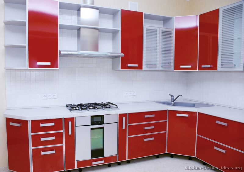 Superior Modern Red Kitchen