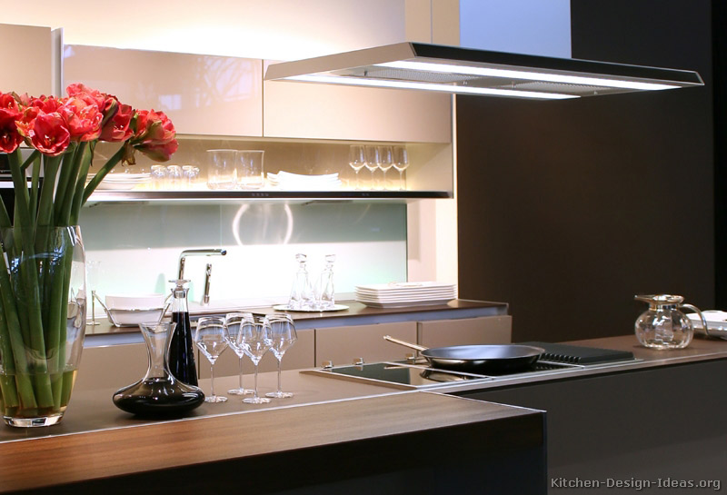 A Modern Luxury Kitchen with an Island Hood