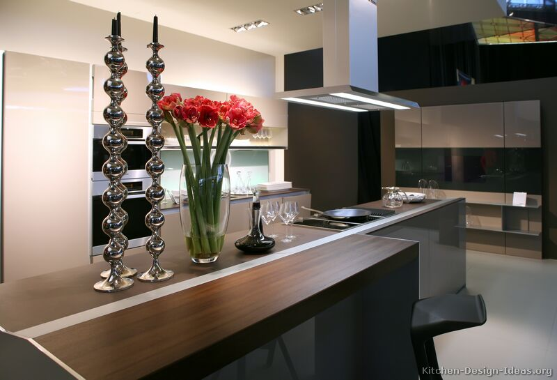 A Modern Luxury Kitchen with an Island Table