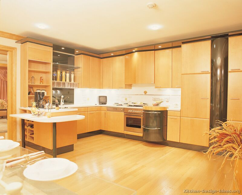 tt238 more pictures modern light wood kitchen - Modern Wood Kitchen Cabinets